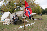 Arkansas, AR, USA, Old Washington State Park, Civil War Weekend, A confederate artillery camp (10 pounder).