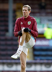 Burnley's Peter Crouch warming up before the Premier League match at Turf Moor, Burnley.