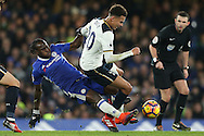 Victor Moses of Chelsea fouls Dele Alli of Tottenham Hotspur. Premier league match, Chelsea v Tottenham Hotspur at Stamford Bridge in London on Saturday 26th November 2016.<br /> pic by John Patrick Fletcher, Andrew Orchard sports photography.