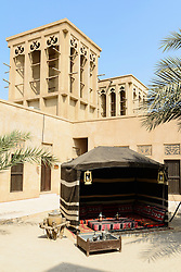 Camel Museum courtyard in Heritage area at Al Shindagha,Dubai United Arab Emirates