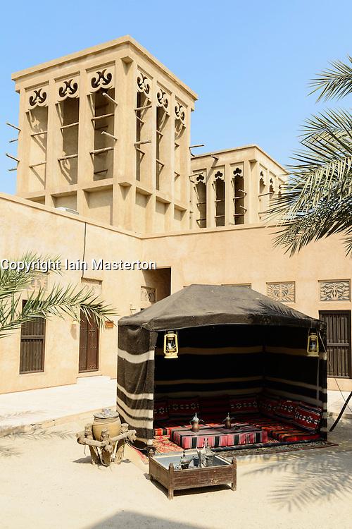 Camel Museum courtyard in Heritage area at Al Shindagha,Dubai United Arab Emirates