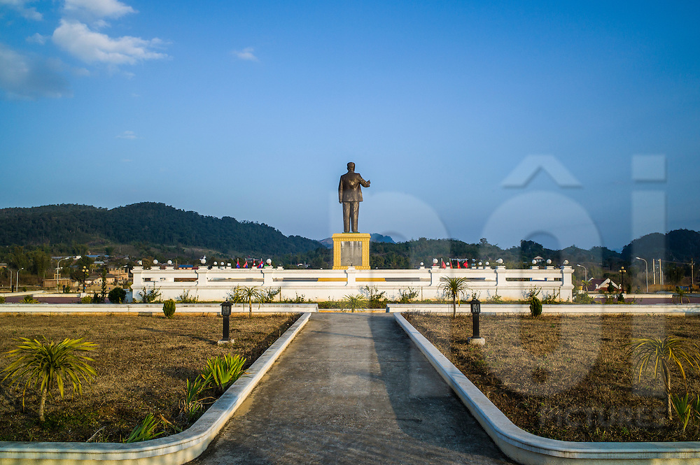 Statue of Former President Kaysone Phomvihane in Vieng Xay District, Houaphanh Province, Laos, Southeast Asia