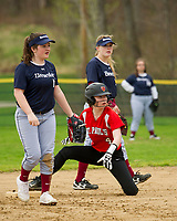 St Paul's School softball with Brewster Academy.  ©2019 Karen Bobotas Photographer