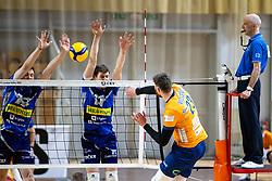 during 2nd Leg Volleyball match between ACH Volley and OK Merkur Maribor in Final of 1. DOL League 2020/21, on April 17, 2021 in Hala Tivoli, Ljubljana, Slovenia. Photo by Matic Klansek Velej / Sportida