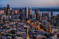 Capitol Hill neighborhood (foreground) & Downtown Seattle