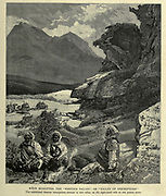 Wady Mukatteb, the Written Valley or Valley of Inscriptions Wood engraving of from 'Picturesque Palestine, Sinai and Egypt' by Wilson, Charles William, Sir, 1836-1905; Lane-Poole, Stanley, 1854-1931 Volume 4. Published in 1884 by J. S. Virtue and Co, London