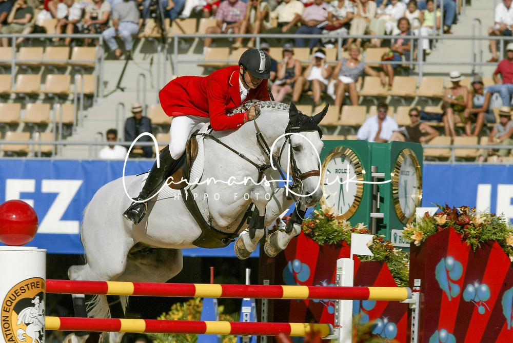 Becker Otto (GER) - Dobel's Cento<br /> Final25 round 1<br /> World Equestrian Games Jerez de la Fronteira 2002<br /> Photo © Dirk Caremans