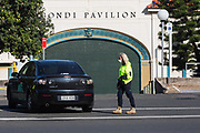 A drive-through coronavirus testing clinic at Bondi Beach, Sydney, Australia. The clinic was established by a team from St Vincent's Hospital, Sydney. Testing has been increased in the area after numerous backpackers tested positive in the area.