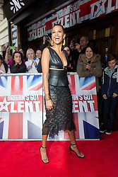 "© Licensed to London News Pictures. 22/01/2016. London, UK. Alesha Dixon arrives at The Dominion Theatre in London for the ""Britain's Got Talent"" auditions. Photo credit : Vickie Flores/LNP"