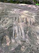Petroglyphs, Omoa, Fatu Hiva, Marquesas, French Polynesia, South Pacific