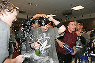 HOUSTON - OCTOBER 26:  The Chicago White Sox celebrate after winning Game 4 of the 2005 World Series against the Houston Astros at Minute Maid Park on October 26, 2005 in Chicago, Illinois.  The White Sox defeated the Astros 1-0.