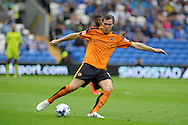 Kevin McDonald  of Wolverhampton Wanderers in action. Skybet football league championship match, Cardiff city v Wolverhampton Wanderers at the Cardiff city stadium in Cardiff, South Wales on Saturday 22nd August 2015.<br /> pic by Andrew Orchard, Andrew Orchard sports photography.