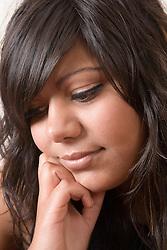 Portrait of a teenage girl,