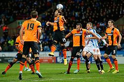 Inigo Calderon of Brighton heads clear - Photo mandatory by-line: Rogan Thomson/JMP - 07966 386802 - 21/10/2014 - SPORT - FOOTBALL - Huddersfield, England - The John Smith's Stadium - Huddersfield Town v Brighton & Hove Albion - Sky Bet Championship.
