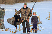 Joe and his five year old son , Jack, were successful desppite the cold and snow during the Wisconsin 2018 Spring Turkey season.
