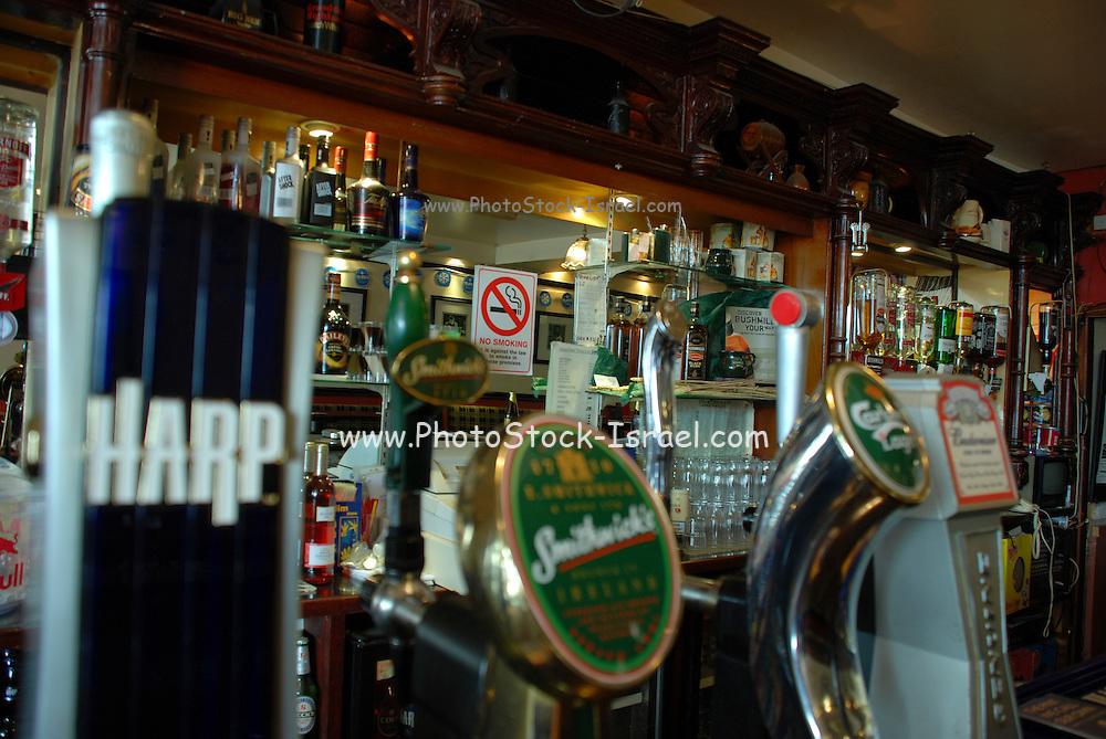 UK, Northern Ireland, County Antrim, Portrush Interior of the Atlantic bar