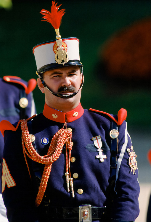 Ceremonial guard at the Pardo Palace, the King's Palace, in Madrid