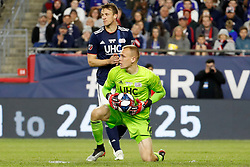 May 15, 2019 - Foxborough, MA, U.S. - FOXBOROUGH, MA - MAY 15: New England Revolution goalkeeper Cody Cropper (1) holds the ball after a save during the Final Whistle on Hate match between the New England Revolution and Chelsea Football Club on May 15, 2019, at Gillette Stadium in Foxborough, Massachusetts. (Photo by Fred Kfoury III/Icon Sportswire) (Credit Image: © Fred Kfoury Iii/Icon SMI via ZUMA Press)