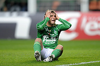 FOOTBALL - FRENCH CHAMPIONSHIP 2009/2010 - L1 - AS SAINT ETIENNE v PARIS SAINT GERMAIN - 18/04/2010 - PHOTO JEAN MARIE HERVIO / DPPI - DESPAIR GONZALO BERGESSIO (ASSE)