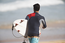 December 11, 2017 - Banzai Pipeline, HI, USA - BANZAI PIPELINE, HI - DECEMBER 11, 2017 - Gabriel Medina of Brazil on his way to compete in the first round of the Billabong Pipe Masters. (Credit Image: © Erich Schlegel via ZUMA Wire)