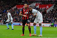 Callum Wilson (13) of AFC Bournemouth and Issa Diop (23) of West Ham United during the Premier League match between Bournemouth and West Ham United at the Vitality Stadium, Bournemouth, England on 19 January 2019.