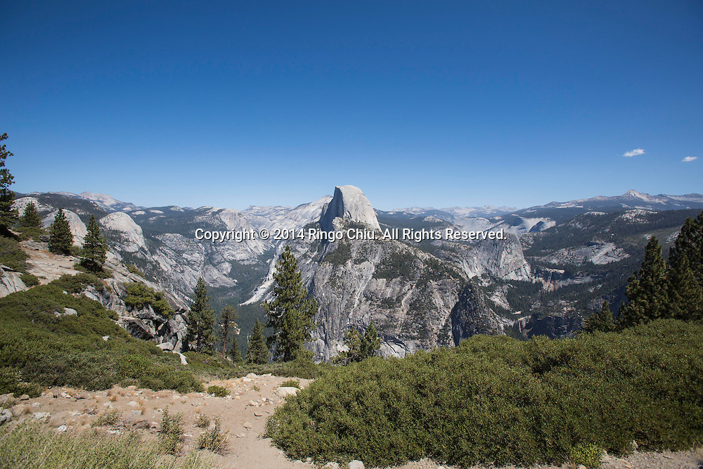 The Half Dome is seen from Glacier Point at Yosemite National Park, California. (Photo by Ringo Chiu/PHOTOFORMULA.com)