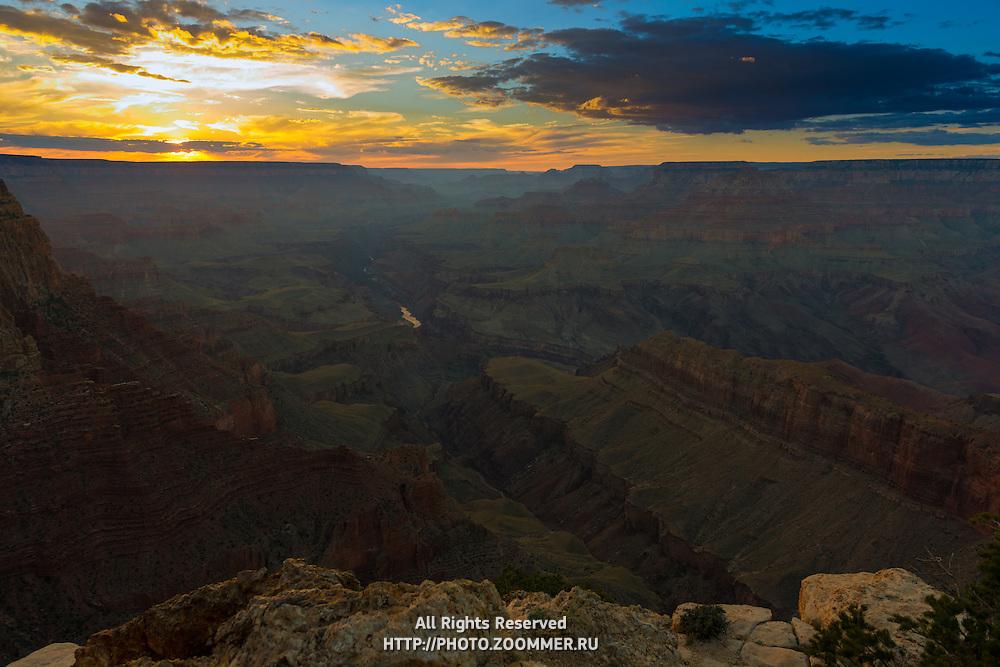 Grand Canyon Landscape At Sunset, Arizona