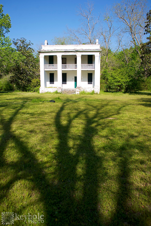 The 1860 Barker Slave Quarters building is one of the structures still standing at Old Cahawba Archaeological Park in Alabama.
