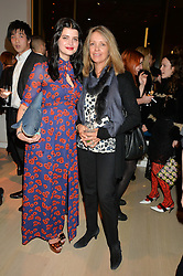 Left to right, PIXIE GELDOF and SABRINA GUINNESS at Fashions for The Future presented by Oceana's Junior Council held at Phillips Auction House, 30 Berkeley Square, London on 19th March 2015.