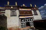 Deer symbols, The Tibetan Lamaistic Buddhist Songtsam Monastery, Shangri-La or Xianggelila,  Zhongdian County, Yunnan, China
