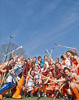 DEN BOSCH - De spelers van Jong Oranje dames en heren , die in september het EK -21 zullen spelen. FOTO KOEN SUYK