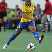 Brazil forward Cristiane (11) during a women's soccer International friendly match between Brazil and the United States National Team, at the Florida Citrus Bowl  on Sunday, November 10, 2013 in Orlando, Florida. The U.S won the game by a score of 4-1.  (AP Photo/Alex Menendez)