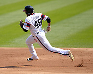 CHICAGO - SEPTEMBER 10:  Rymer Liriano #48 of the Chicago White Sox runs the bases against the San Francisco Giants on September 10, 2017 at Guaranteed Rate Field in Chicago, Illinois.  The White Sox defeated the Giants 8-1.  (Photo by Ron Vesely) Subject:   Rymer Liriano