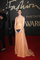 Erin O'Connor, The British Fashion Awards 2014, The London Coliseum, London UK, 01 December 2014, Photo By Brett D. Cove