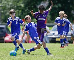 19 April 2015. New Orleans, Louisiana.<br /> U9 New Orleans Jesters Elites, Purple team draw 2-2 with Gulf Coast United. <br /> Photo; Charlie Varley/varleypix.com