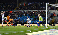 Goal scored by  Wolverhampton Wanderers midfielder Romain Saiss during the EFL Sky Bet Championship match between Leeds United and Wolverhampton Wanderers at Elland Road, Leeds, England on 7 March 2018. Picture by Paul Thompson.