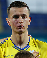 PODGORICA, MONTENEGRO - JUNE 07: Bersant Celina of Kosovo before the 2020 UEFA European Championships group A qualifying match between Montenegro and Kosovo at Podgorica City Stadium on June 7, 2019 in Podgorica, Montenegro MB Media