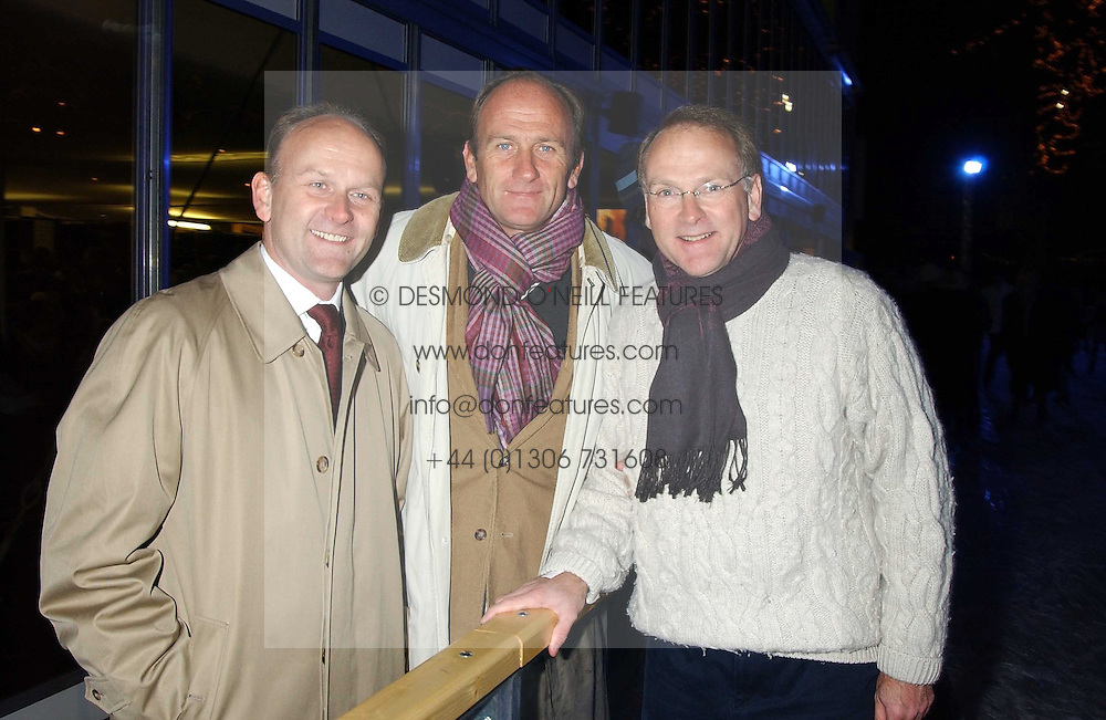 Left to right, brothers STEPHEN FLINT WOOD Worldwide Managing Director of IMG Arts & Entertainment, DAVID FLINT WOOD and FRED FLINT WOOD at the opening of the Natural History Museum's Ice Rink on 16th November 2005.<br /><br />NON EXCLUSIVE - WORLD RIGHTS