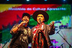 Leandro Cachoeira com participacao de Marcelo Cachoeira se apresentam na 41a Expointer realizada em Esteio, Rio Grande do Sul. FOTO: Gustavo Granata/ Agência Preview