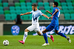 Nino Kouter of Slovenia during football match between National Teams of Slovenia and Greece in UEFA Nations League 2020, on September 3, 2020 in SRC Stozice, Ljubljana, Slovenia. Photo by Grega Valancic / Sportida