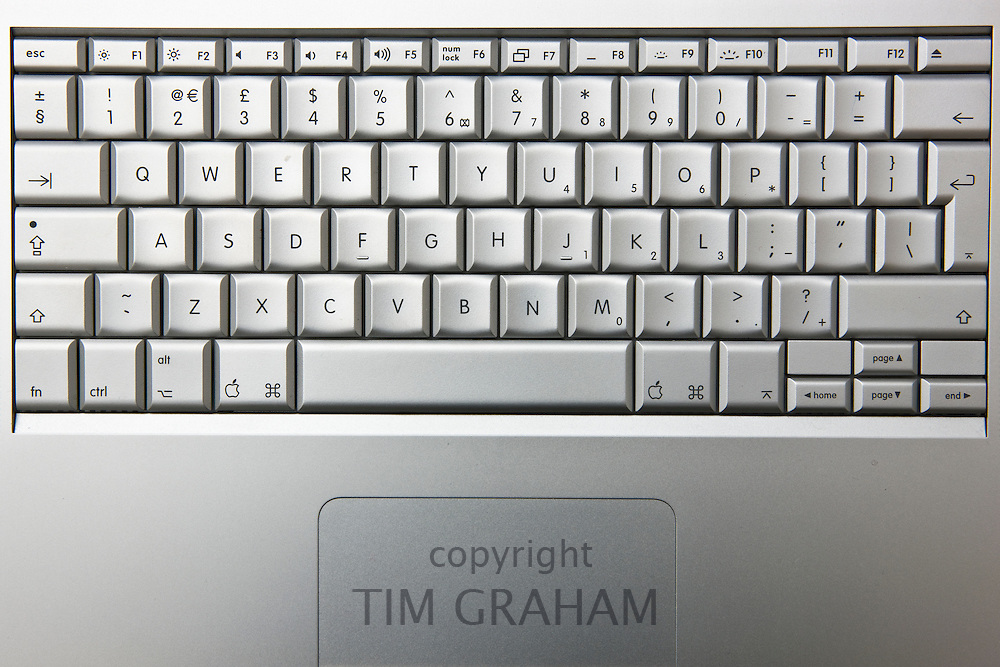 Apple MacBook Pro laptop computer keyboard, London, England, United Kingdom