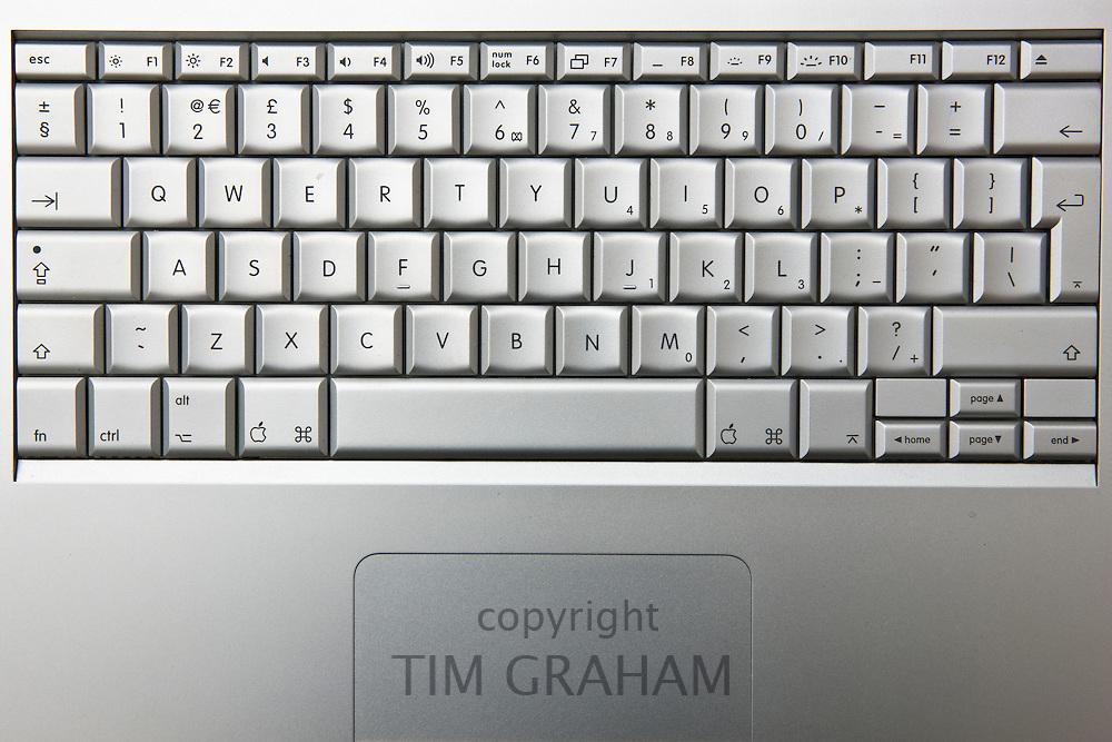 Apple MacBook Pro laptop computer keyboard, London, England, United Kingdom
