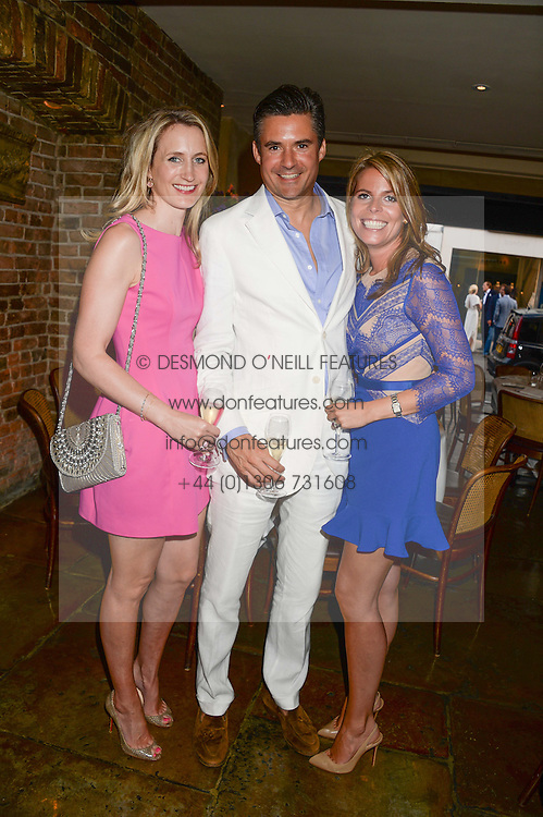 Left to right, ARABELLA DUNN, EDWARD TAYLOR and CATHERINE CADBURY at an evening of Dinner & Dancing at Daphne's, 112 Draycott Avenue, London SW3 on 24th July 2013.