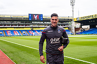 LONDON, ENGLAND - MAY 13: Martin Kelly (34) of Crystal Palace arrived for  the Premier League match between Crystal Palace and West Bromwich Albion at Selhurst Park on May 13, 2018 in London, England. MB Media