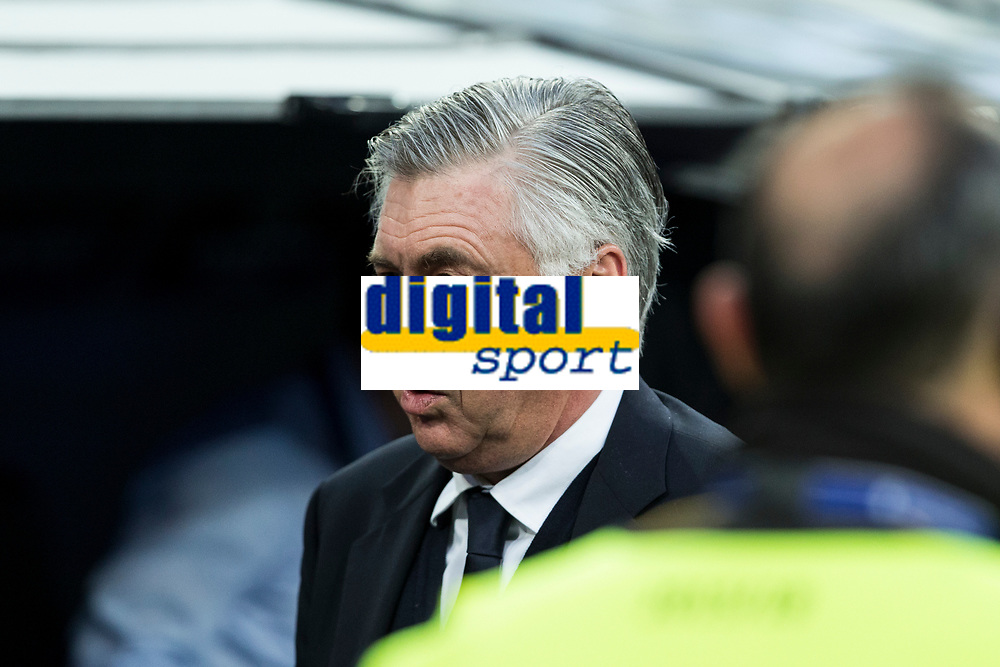coach Carlo Ancelotti of FC Bayern Munchen during the match of Champions League between Real Madrid and FC Bayern Munchen at Santiago Bernabeu Stadium  in Madrid, Spain. April 18, 2017. (ALTERPHOTOS)