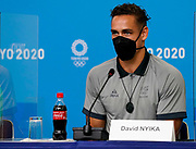 David Nyika speaks at a press conference during the Tokyo 2020 Olympic Games. Tuesday 27th July 2021. Mandatory credit: © John Cowpland / www.photosport.nz