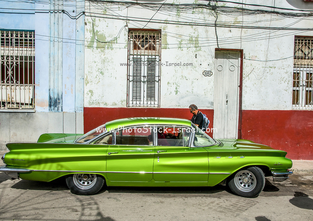 Cuba, Havana,  Vintage car