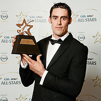 26 October 2012; Brendan Bugler, Clare, with his 2012 GAA GPA All-Star Hurling award, at the GAA GPA All-Star Awards 2012, Sponsored by Opel, National Convention Centre, Dublin. Picture credit: Paul Mohan / SPORTSFILE *** NO REPRODUCTION FEE ***