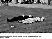 Magdalen Comem Ball. Oxford, 24 June 1988. Film 88578f27<br />© Copyright Photograph by Dafydd Jones<br />66 Stockwell Park Rd. London SW9 0DA<br />Tel 0171 733 0108