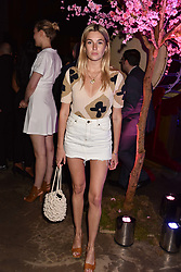 Camille Charriere at the launch of Nobu Hotel London Shoreditch,10-50 Willow Street, London, England. 15 May 2018.